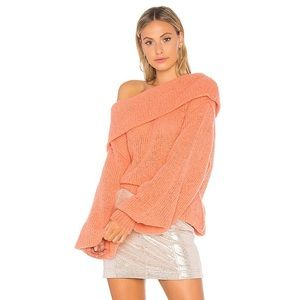 Free People Ophelia Off The Shoulder Tunic Sweater